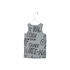 SS18 TANK TOP Melange grey, Black