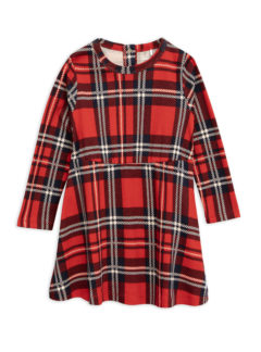 Red Check aop dress