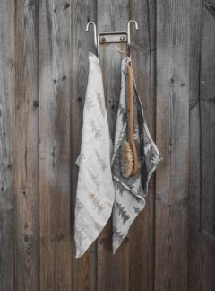 GRAN LINEN TOWEL, SAND LARGE