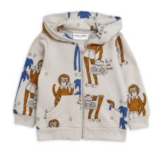Cool monkey aop zip hood