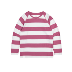 KEEL LONG SLEEVE MAUVE-WHITE