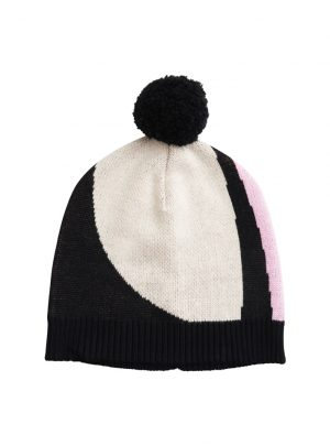 SS19 – KNIT POM POM BEANIE, Sand, Lilac, Orange, Black (TRAVEL)