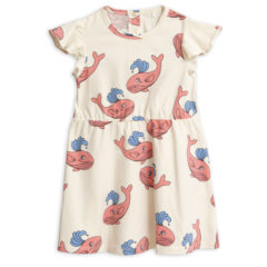 Whale aop wing dress pink