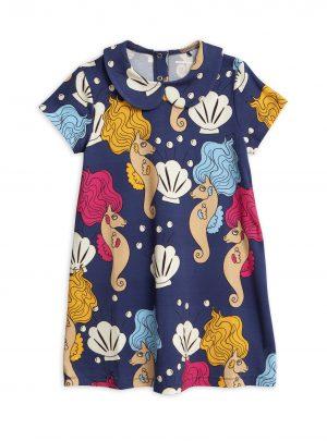 Seahorse collar ss dress