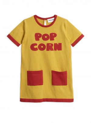 Knitted pop corn dress YELLOW