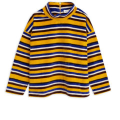 Velour stripe sweater