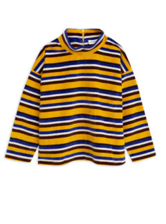Velour stripe sweater