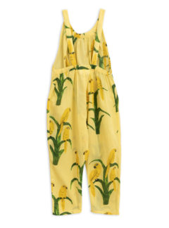 Parrot woven dungarees