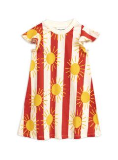 Sun stripe aop wing dress