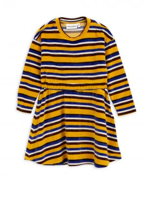 Velour stripe dress