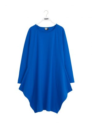 KANTO DRESS SOLID JERSEY VIVID BLUE