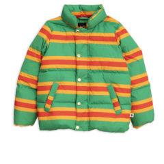 MiniRodini Stripe puffer jacket