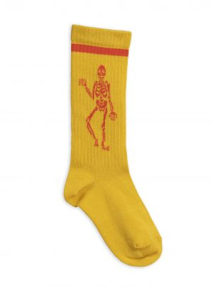 Skeleton knee sock BROWN/YELLOW