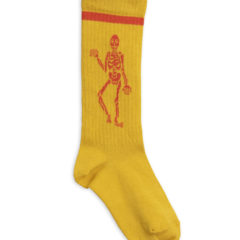 Skeleton knee sock BROWN/YELLOW