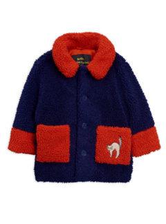 MiniRodini Faux fur jacket BLUE