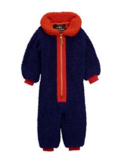 MiniRodini Faux fur baby overall BLUE