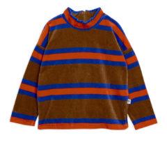 MiniRodini Velour stripe sweatshirt