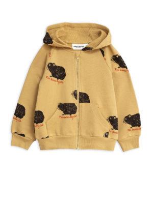 Guinea pig zip hoodie beige