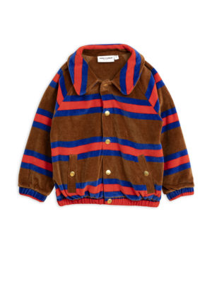 MiniRodini Velour stripe jacket