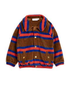 MiniRodini Velour stripe jacket