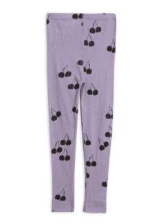 Cherry wool leggings purple
