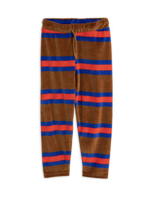 MiniRodini Velour stripe trousers