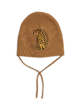 Tiger patch hat brown