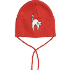 Angry cat patch hat RED