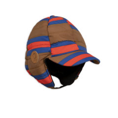 MiniRodini Insulator stripe cap BROWN
