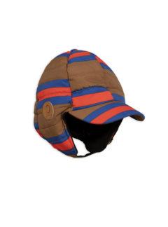 MiniRodini Insulator stripe cap BROWN