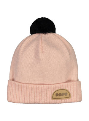 POM POM WOOL BEANIE MULTICOLOR Powder peach, Black
