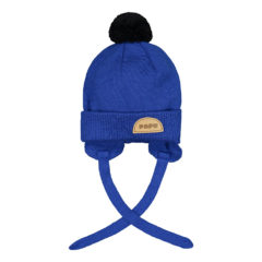 POM POM WOOL BEANIE MULTICOLOR Vivid blue, Black