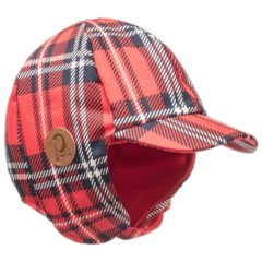 Red Alaska check cap