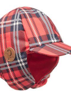 Red Alaska check cap