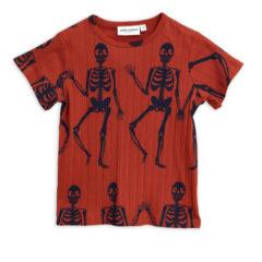 Skeleton aop ss tee RED