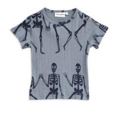 Skeleton aop ss tee BLUE