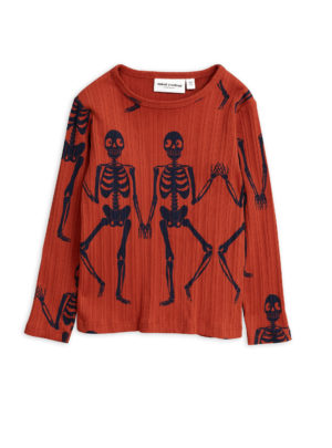 Skeleton aop ls tee RED