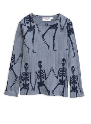 Skeleton aop ls tee BLUE