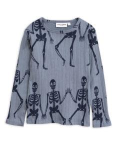 Skeleton aop ls tee BLUE