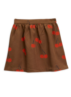Cherry woven skirt BROWN
