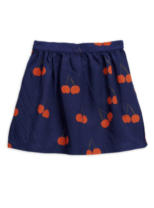 Cherry woven skirt BLUE