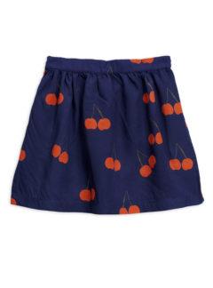 Cherry woven skirt BLUE