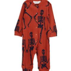Skeleton aop jumpsuit RED
