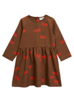 Cherry woven ls dress BROWN