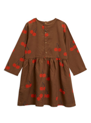 Cherry woven ls dress BROWN