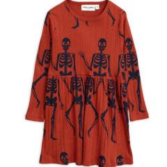 Skeleton aop ls dress RED