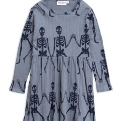 Skeleton aop ls dress BLUE