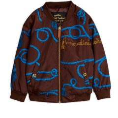 Rope baseball jacket BROWN