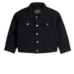 Denim twill leopard jacket