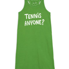 Tennis anyone sp tank dress, green